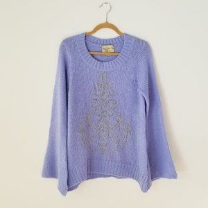 Wildfox Lavender Chandelier Oversized Sweater